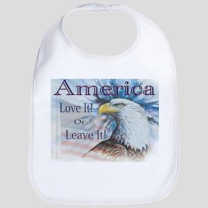 America Love It or Leave It Bib