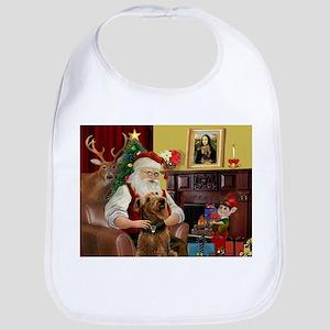 Santa and his Airedale Bib
