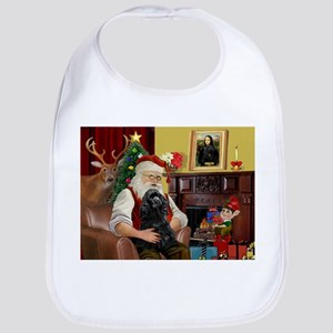 Santa's Black Cocker Bib