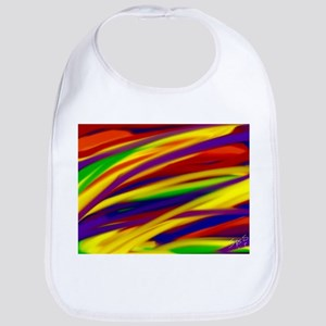 Gay rainbow art Bib