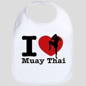 Muay Thai Heart Designs Bib