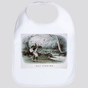 Fly fishing - 1879 Cotton Baby Bib