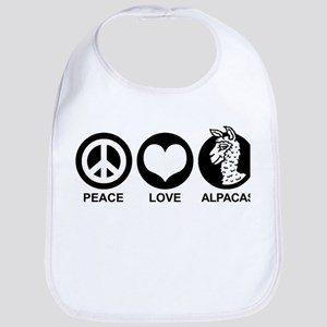 Peace Love Alpacas Bib