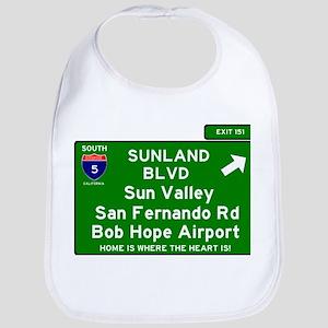 I5 INTERSTATE EXIT SIGN - CALIFORNIA - SUNLAND Bib