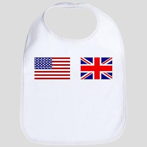 USA UK Flags for White Stuff Bib