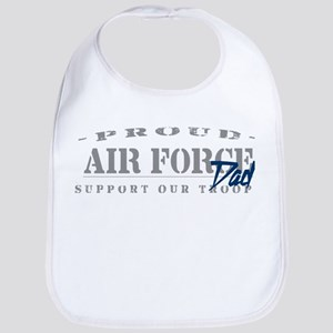 Proud Air Force Dad (Blue) Bib