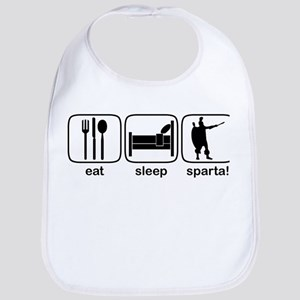 Eat Sleep Sparta! Bib