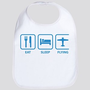 Eat Sleep Flying Bib