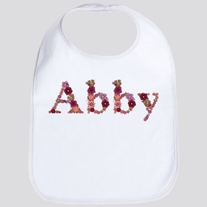 Abby Pink Flowers Bib