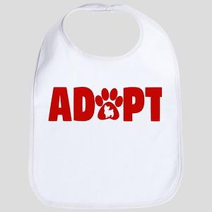 Cute Pets Paw Cat Dog Adopt Red Baby Bib