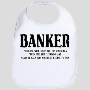 Funny Banker Bib