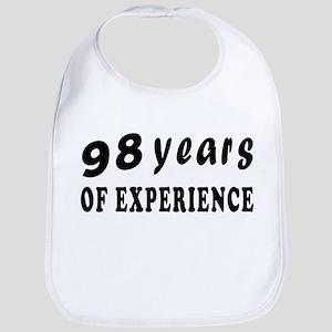 98 years birthday designs Bib