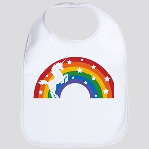 Retro Rainbow Unicorn Bib