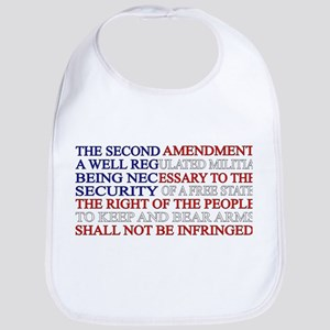 Second Amendment Flag Baby Bib