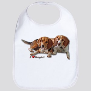 Two Beagles Bib