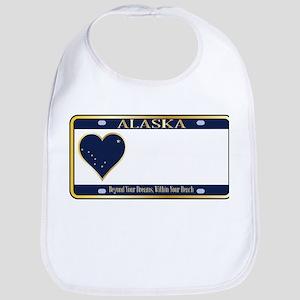 Alaska State License Plate Bib
