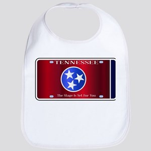 Tennessee State License Plate Flag Bib