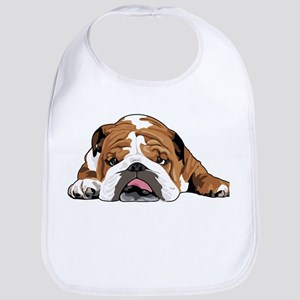 Teddy the English Bulldog Bib