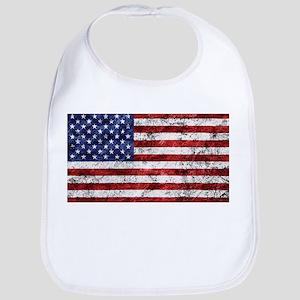 Grunge American Flag Bib
