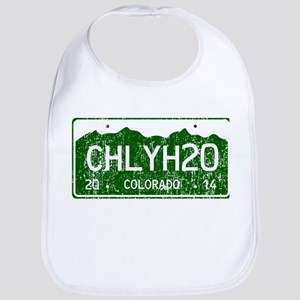 Chilly Water Colorado License Plate DISTRESSED Bib