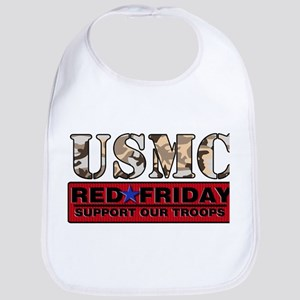 Red Friday_Logo_Marines Baby Bib
