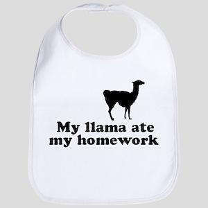Funny Llama Bib