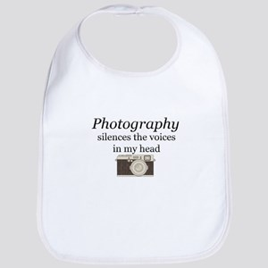 Photography silences the voices in my hea Baby Bib