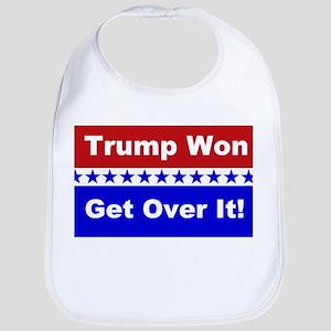 Trump Won Get Over It! Cotton Baby Bib