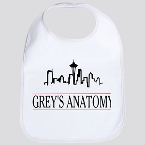 Grey's anatomy-skyline Baby Bib