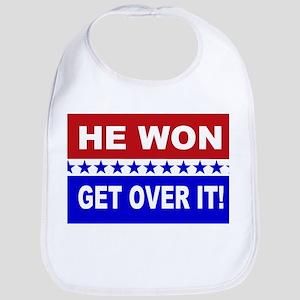 He Won Get Over It! Bib