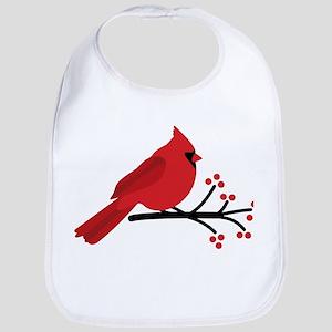 Christmas Cardinals Bib