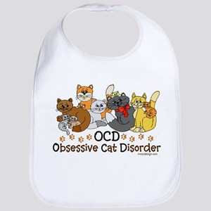 OCD Obsessive Cat Disorder Bib