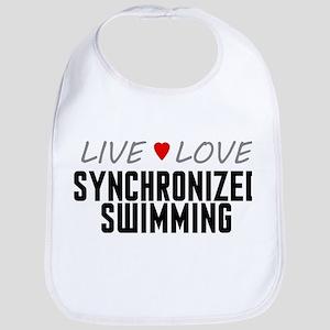 Live Love Synchronized Swimming Bib