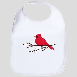 Cardinal Bird Branch Bib
