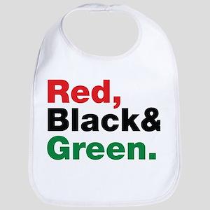 Red, Black and Green. Bib