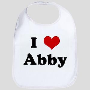 I Love Abby Bib