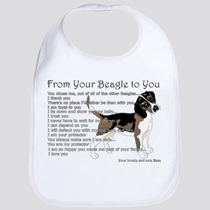 A Beagle's letter to you Bib