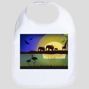 Animals African Landscape Baby Bib
