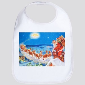 Santa Claus Up On The Rooftop Bib