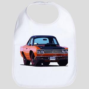 BabyAmericanMuscleCar_69_RoadR_Orange Bib