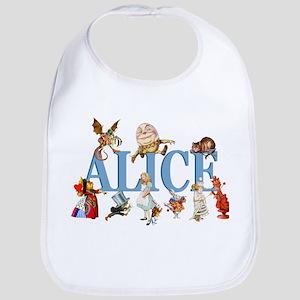 Alice & Friends in Wonderland Bib