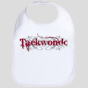 Taekwondo Red Baby Bib