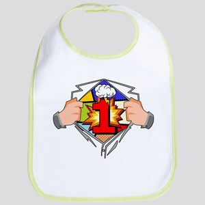 1st Birthday Superhero Bib