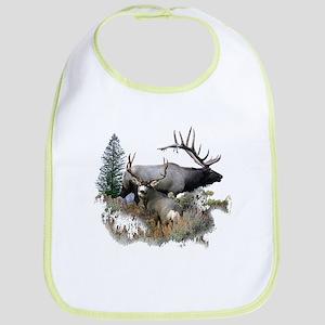 Buck deer bull elk Bib