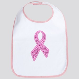 Pink Ribbon Jewels Bib