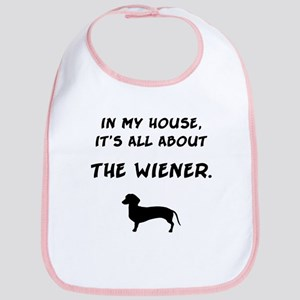 wiener in my house Bib