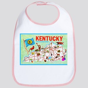 Kentucky Map Greetings Bib