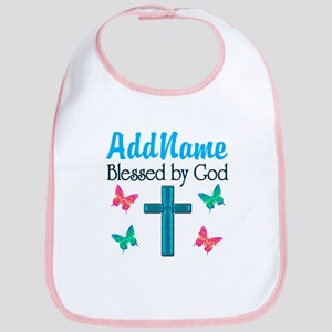 BLESSED BY GOD Bib
