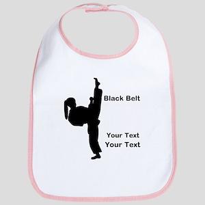 Black Belt Kick Baby Bib