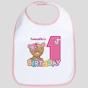 Baby First Birthday Cute Bib